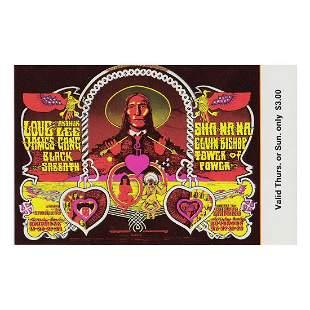 Black Sabbath - 1970 Vintage Concert Ticket