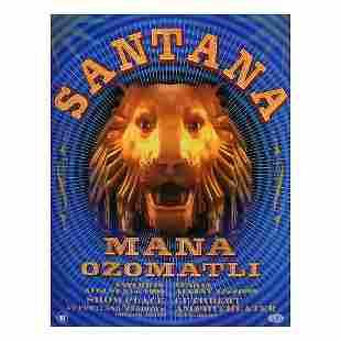 Santana - 1999 Concert Poster