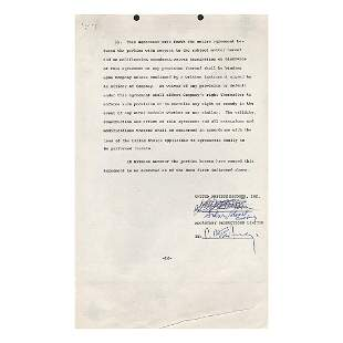 Paul McCartney - Live and Let Die - Signed Contract