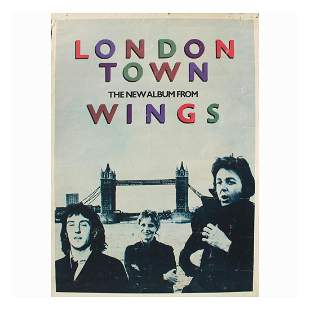 Wings - London Town - 1978 Promo Poster