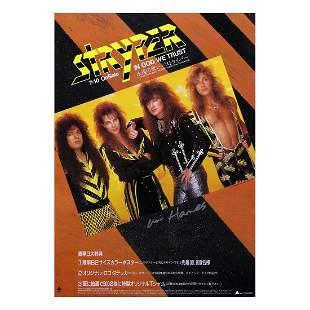 Stryper - 1988 Signed Promotional Poster