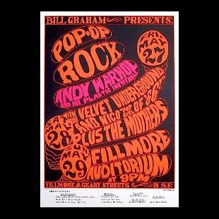 Andy Warhol - 1966 Fillmore Concert Handbill