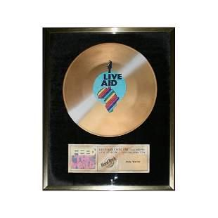 Andy Warhol - Live Aid - 1985 Record Award