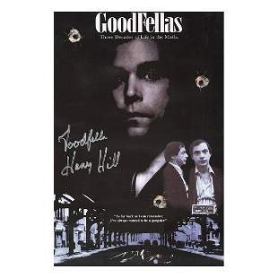Henry Hill - Goodfellas - Signed Poster