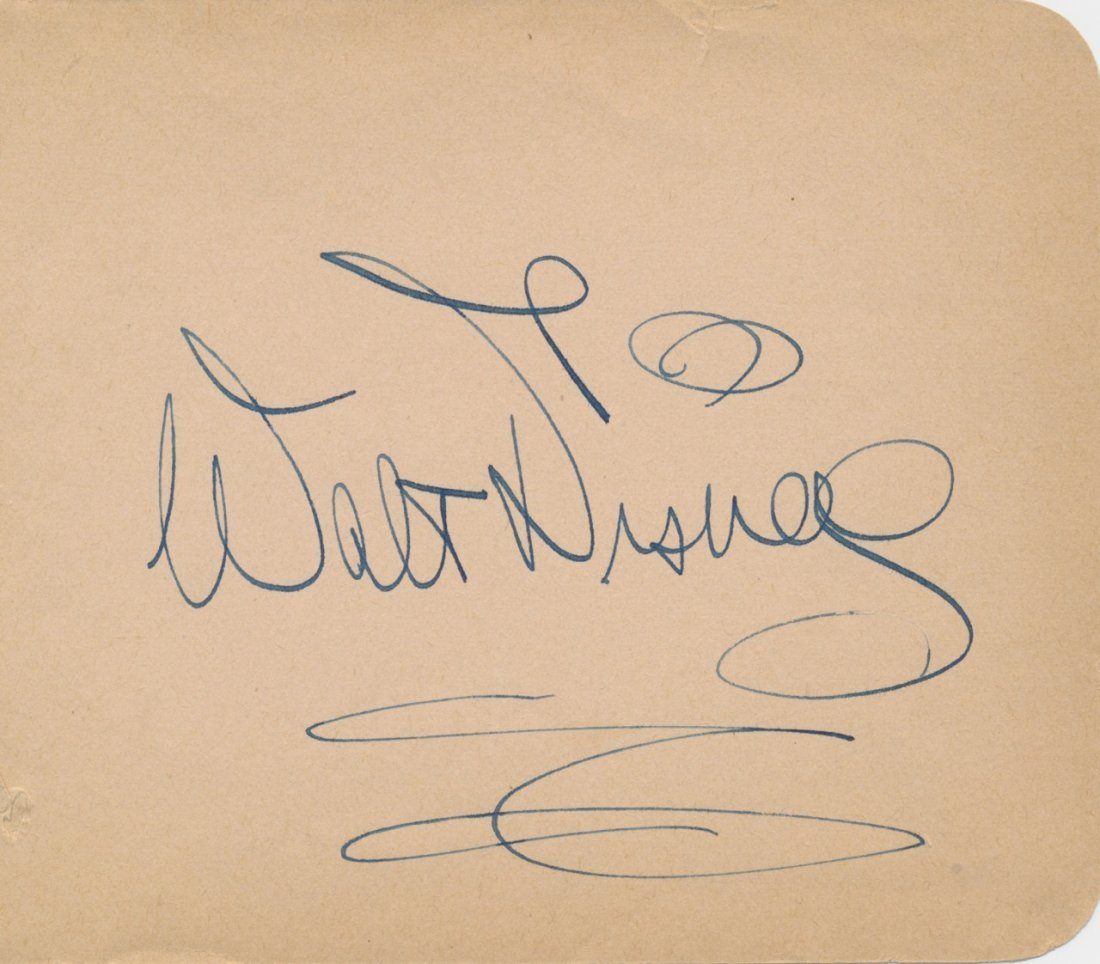 Walt Disney 1940's Original Autograph