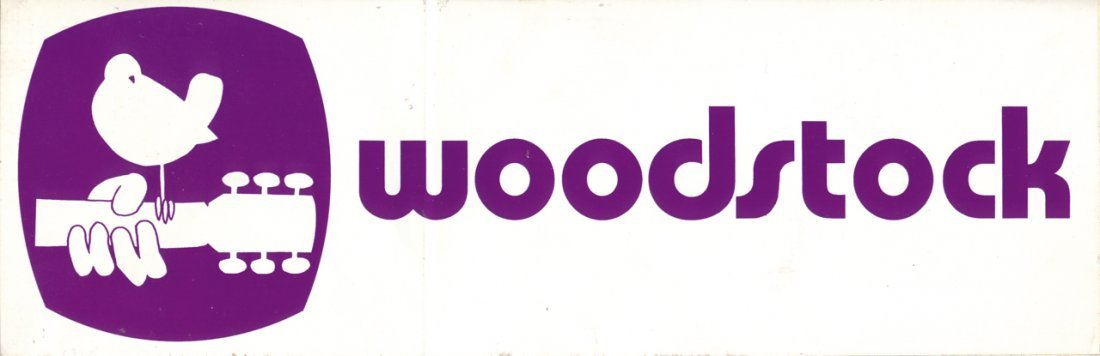 Original 1969 Woodstock Bumper Sticker