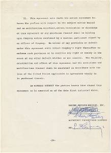 Paul McCartney Signed Live and Let Die Contract