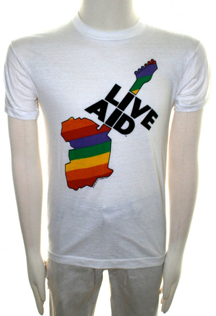 Live Aid Official 1985 T-Shirt & Hard Rock Cafe Voucher