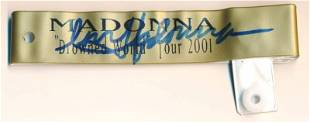 """Madonna Signed 2001 """"Drowned World Tour"""" VIP Wristband"""