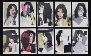 Warhol/Jagger Original Numbered Postcard Suite