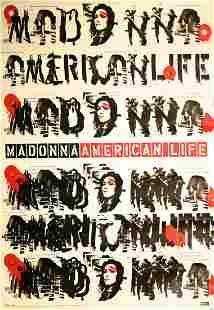 "Madonna Rare ""American Life"" Promotional Poster"
