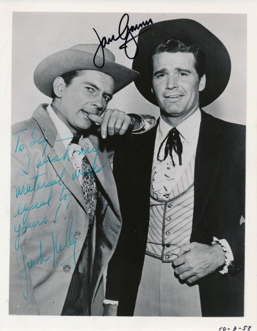 James Garner & Jack Kelly Autographed Photograph