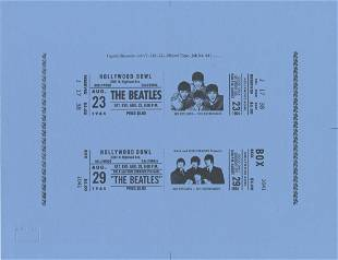 """The Beatles Official """"Hollywood Bowl"""" LP Artwork"""