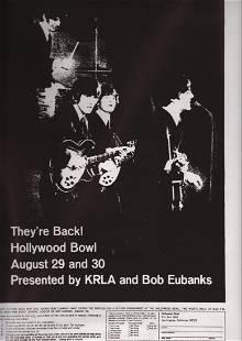 The Beatles Original 1965 Hollywood Bowl Flyer
