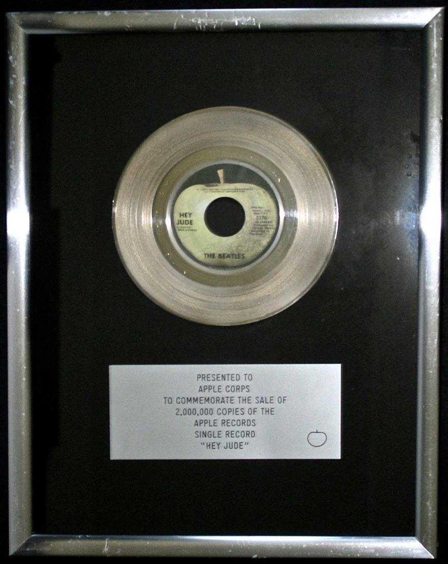 "The Beatles ""Hey Jude"" Gold Record Award"