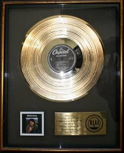 Paul McCartney Official RIAA Gold Record Award