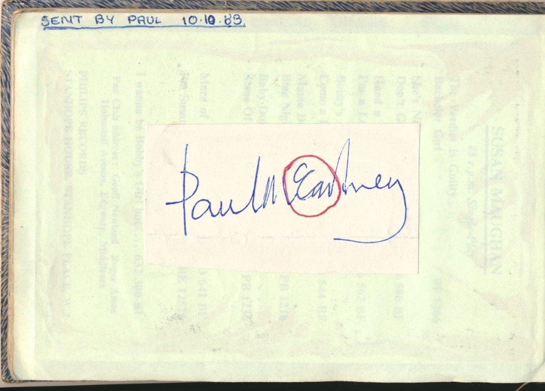 Paul McCartney 1963 Autograph