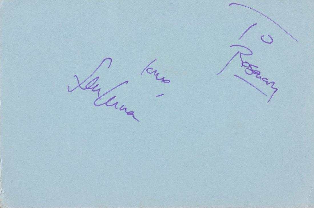 Sean Lennon Autograph