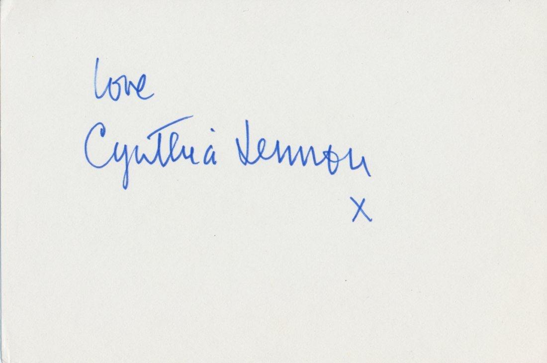 Cynthia Lennon Autograph