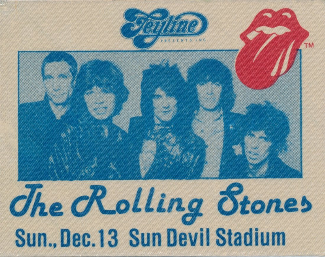 The Rolling Stones 1981 Backstage Pass/Parking Pass