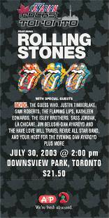 The Rolling Stones Unused Ticket Group Lot
