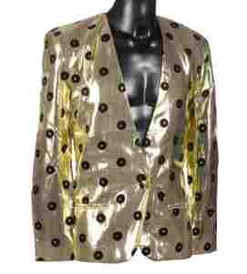 Prince Gold Lame/Black Sequined Record Designed Jacket