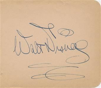 Walt Disney 1940's Autograph