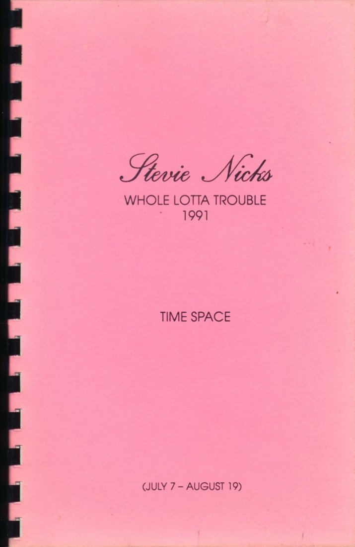 "Stevie Nicks ""Whole Lotta Trouble"" Tour Itinerary Book"