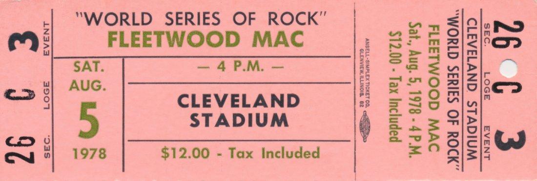 Fleetwood Mac Unused 1978 Concert Ticket