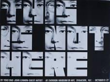 "John Lennon & Yoko Ono ""This Is Not Here"" Poster"