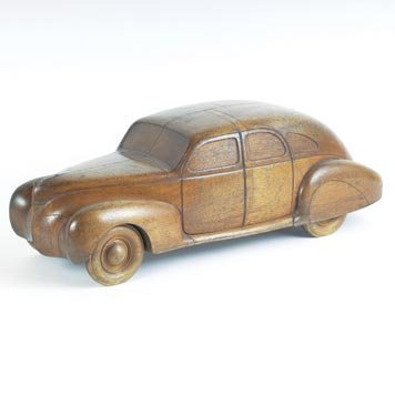 129: 129-1939 Lincoln Zephyr Wooden Styling Model