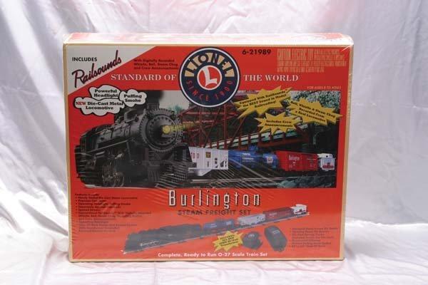 0014: Lionel Train Set 21989 Burlington Steam freight s