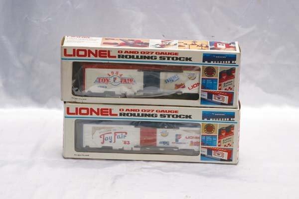 0218: Lionel Club Cars 7521 Toy Fair 1983 reefer, 7523