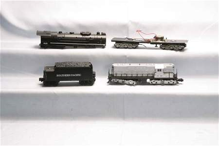 0743: Lionel Parts Assortment of large boxes of Modern