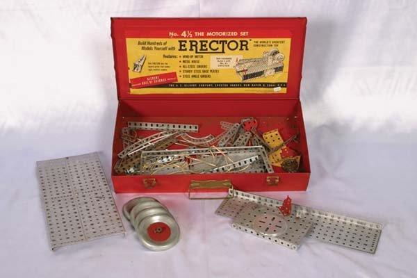 1013: Gilbert # 4 1/2 Erector Set Metal box