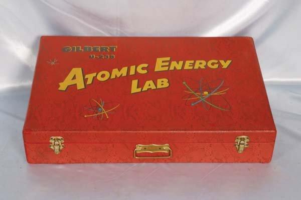 1019: Gilbert U-238 Atomic Energy Lab Case in good shap