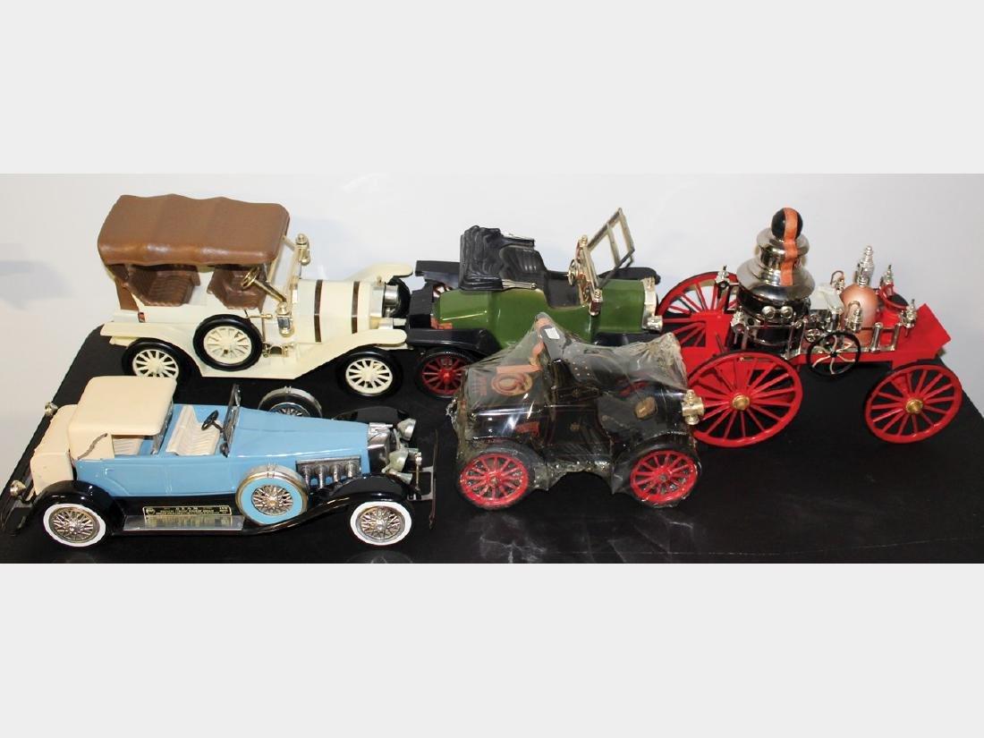 Jim Beam Classic Car Decanters, Set of Five