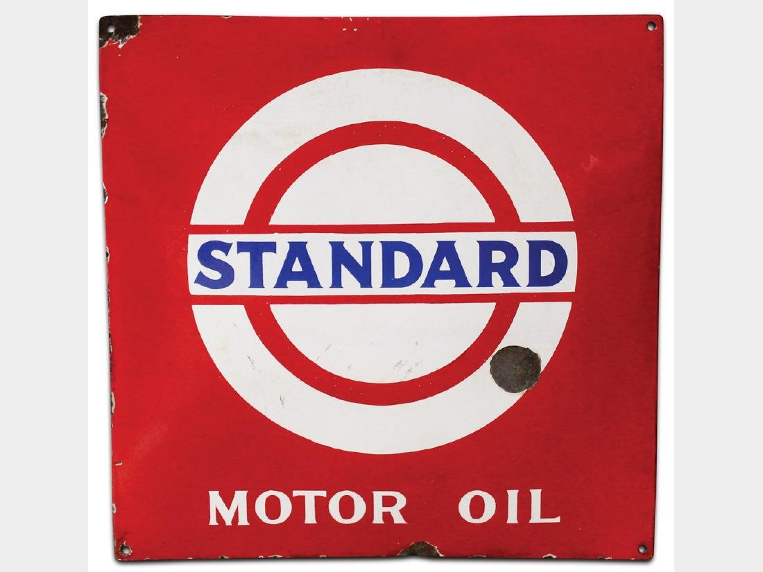 Standard Motor Oil Porcelain Sign, German