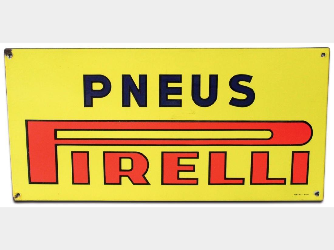 Pirelli Porcelain Sign, French
