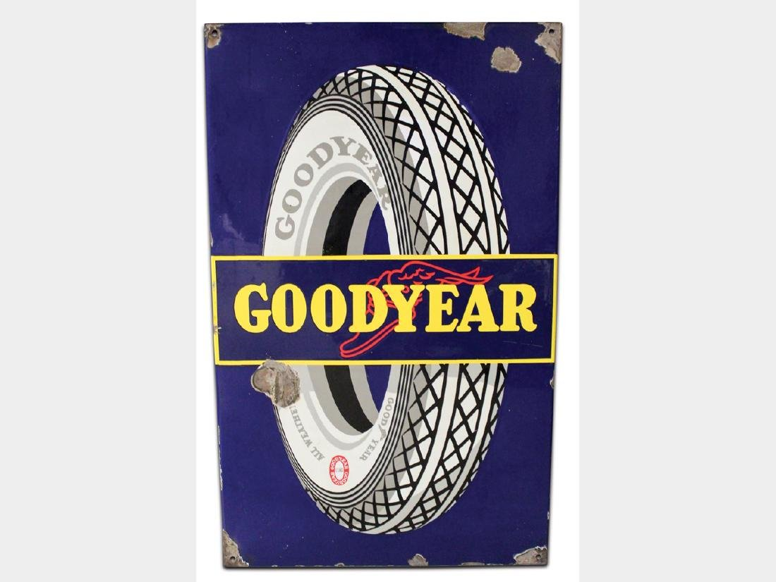 Goodyear Porcelain Sign, Europe
