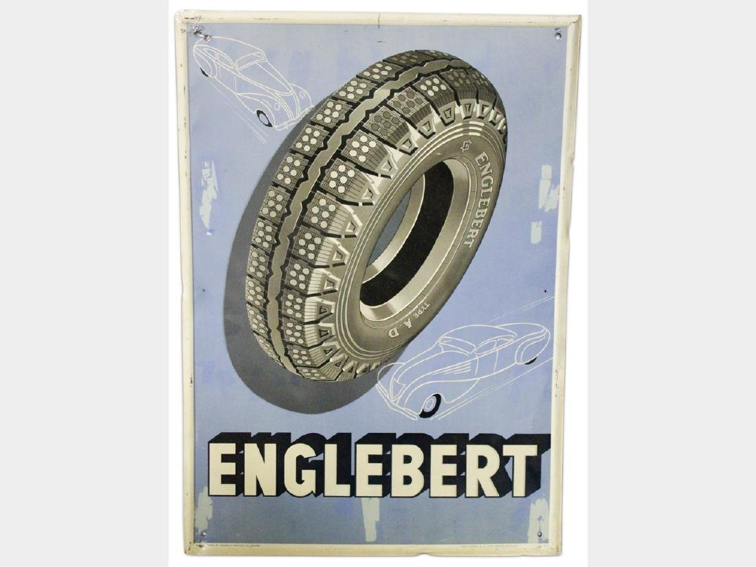 Engleburt Embossed Tin Sign, German