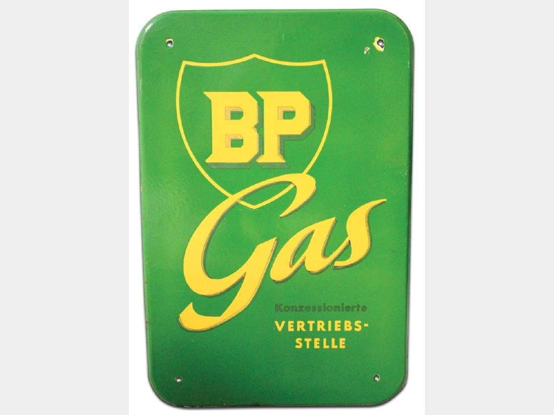 BP Gas Porcelain Sign, German