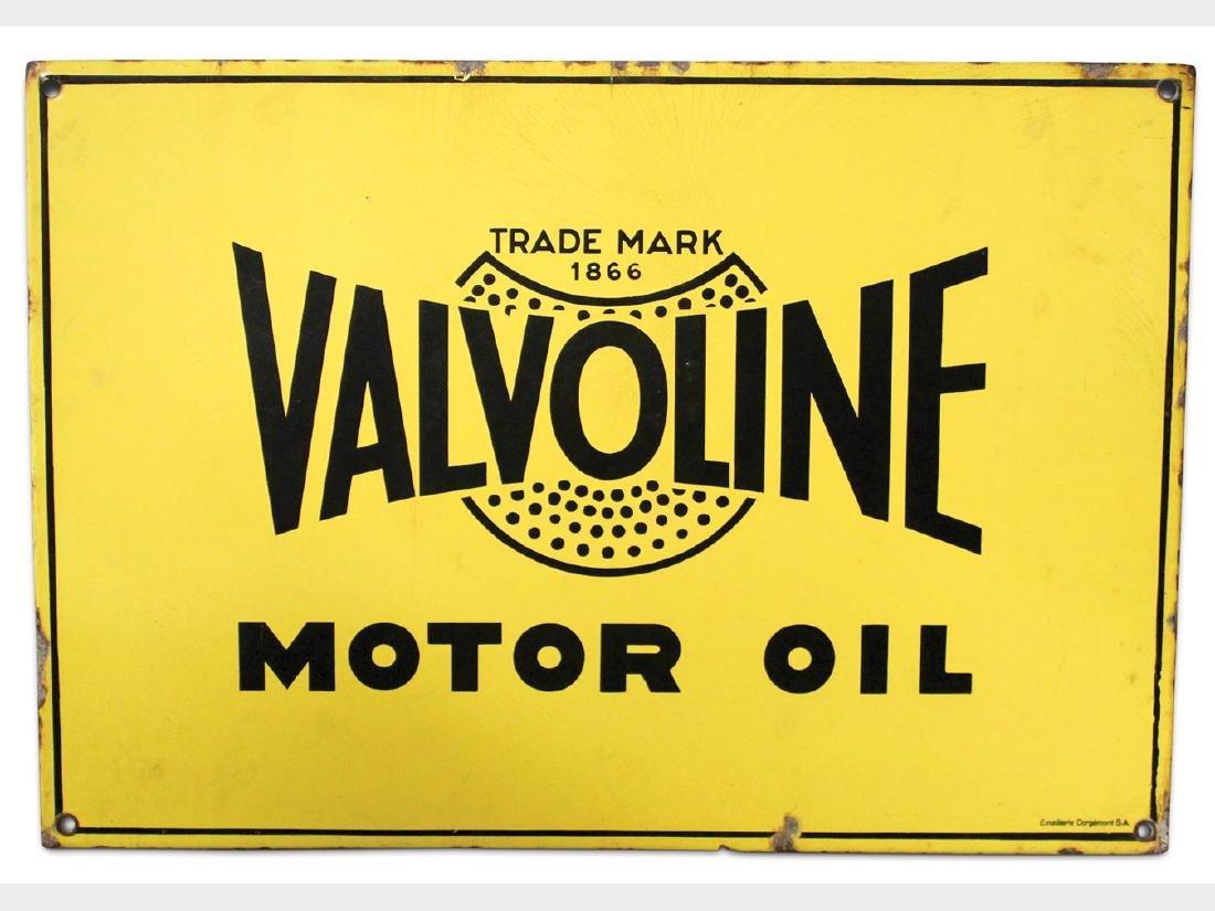 Valvoline Motor Oil Porcelain Sign, Europe