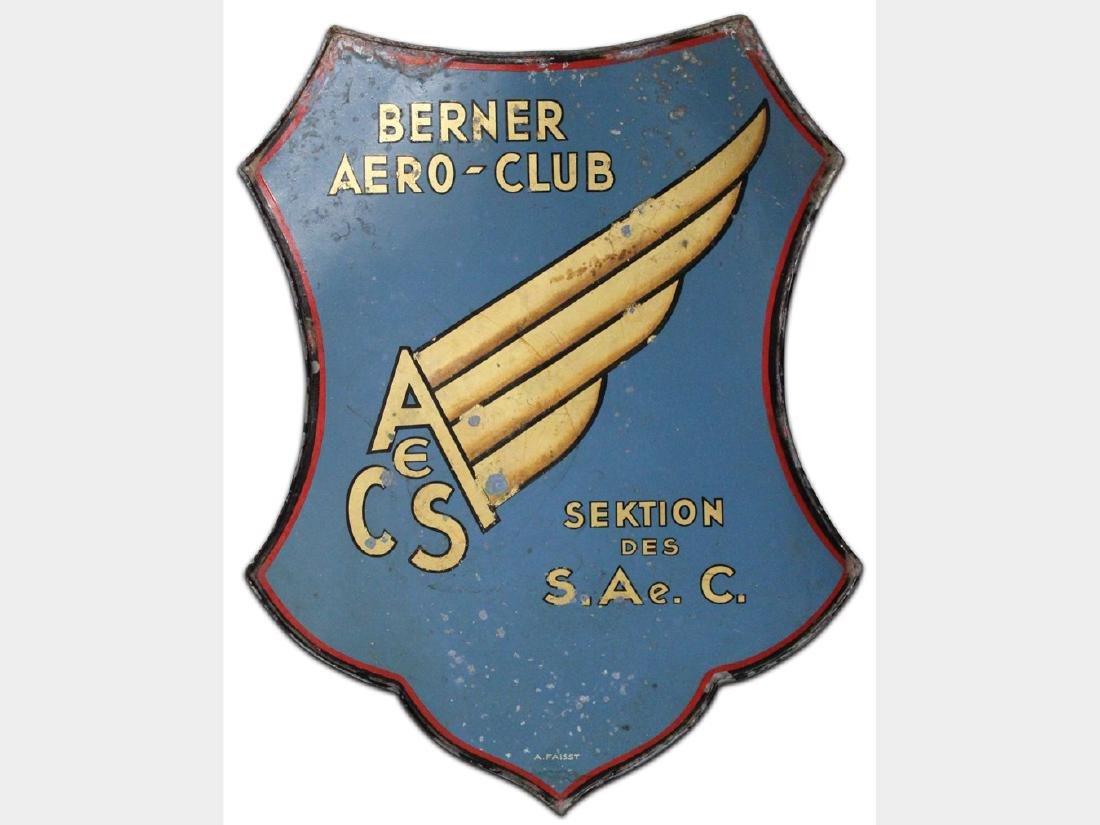 Berner Aero-Club Painted Tin Sign