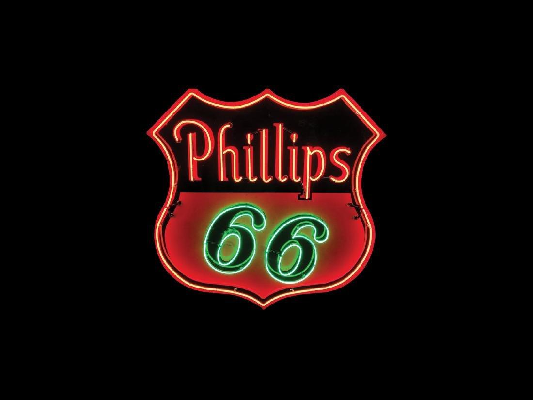 Phillips 66 Original Porcelain Neon Sign