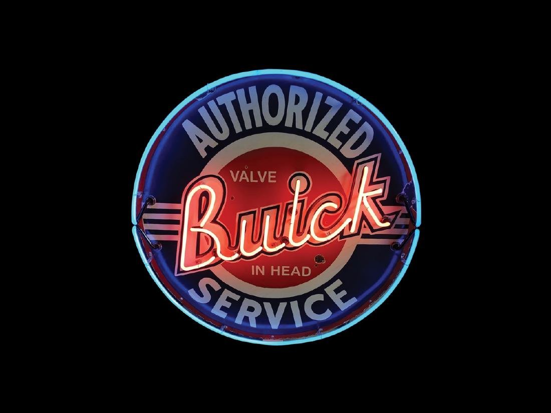 Buick Authorized Service Original Porcelain Neon Sign