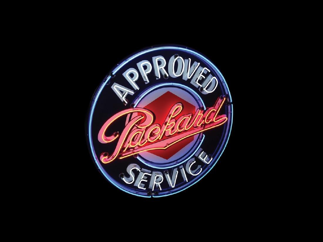 Packard Approved Service Original Porcelain Neon Sign