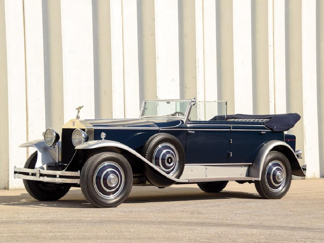1930 Rolls-Royce Phantom I Newmarket Convertible Sedan by Brewster
