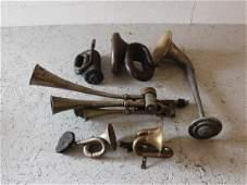 Testaphone and Assorted Antique Car Horns