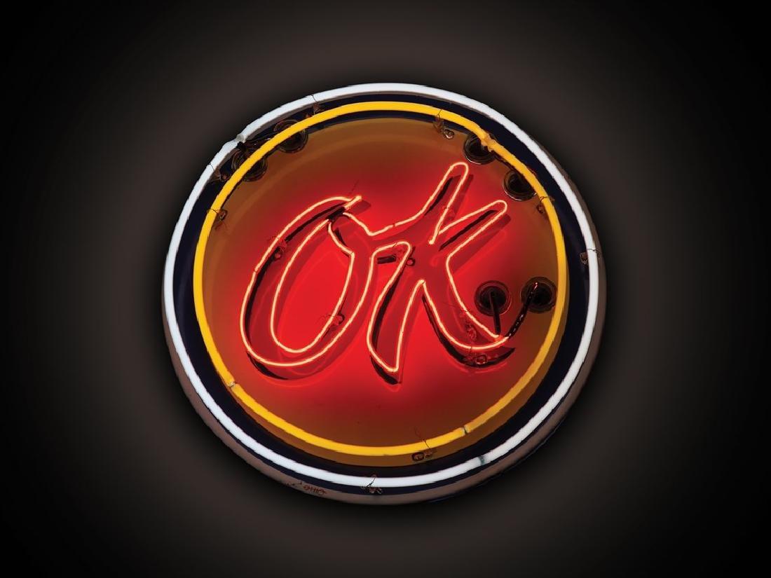 OK Flashing Neon Sign